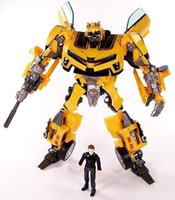Wholesale Human Alliance - Freeshipping Transformation Human Alliance Robot Bumblebee and Sam Anime Movie 4 Model Action Figures classic toys for boys cartoon with box