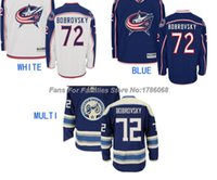 Wholesale Factory Breathable Jacket - Factory Outlet, Men's Columbus Blue Jackets Ice Hockey Jersey Sergei Bobrovsky #72 Jersey BLUE WHITE,Authentic Stitched Jersey,Size S-3XL
