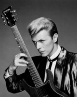 David Bowie With Guitar Rock N Roll Room Decor Poster Poster Stampa Photopaper 16 24 36 47 pollici