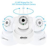 Wholesale Wireless Ir Webcam - AU UK EU US Plug KKMOON HD 0.3MP IP Camera PnP P2P Pan Tilt IR WiFi Wireless Network IP Webcam Surveillance Cameras