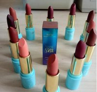 Wholesale Blue Lipsticks - NEW Tarte Raineorest of The Sea color Splash Matte Lipstick 12 colors Makeup DHL Free shipping