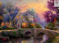 outside world - diy diamond painting embroidery cross stitch kits square Inlaid decorative world outside the villa40x50