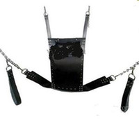 Wholesale Slings Stirrups - Romantic love pillow Sex Swing for Love & couples Strict Leather Sling w  Stirrups and Pillow sm bdsm game sex toys
