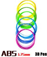 трехцветный принтер оптовых-Горячая нить ABS сбывания 1.75 mm 20 различных цветов 5 метров каждый цвет весь материал E233L утверждения SGS принтера ручки 3D 3D