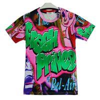roxo dos homens camisetas venda por atacado-Camisas dos homens T Moda Fresca Príncipe de Bel Air Will Smith 3D Impressão Man Camisetas homme Impressão Ganhos Clássicos Roxos Do Punk Tops Tees