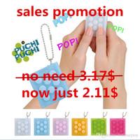 Wholesale Gadgets Promotion - year-end sales promotion Mugen Puchi Speaker Key chain Puti Puti bubble wrap key ring Vent Decompress Electric Press speaker Sound gadgets