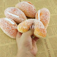 Wholesale Home Scented - Wholesale-20PCS Jumbo Icing Cream Sugar Covered Squishy Bread Scented Toy Kitchen Home Decoration Gift Wholesale