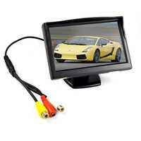 Wholesale Tft Color Monitor Tv - 5 inch TFT LCD Car Color Rear View Monitor Parking Backup Camera 2ch Video in For Reverse Camera