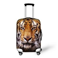 Wholesale protective covers for luggage - FORUDESIGNS Travel on Road Luggage Covers Protective For Trunk Cases 18''-28'' Trolley Suitcase Thick Elastic Dust-proof Cover L15