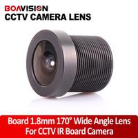 Wholesale Wide Angle Lens Cctv Camera - Lens mount board 1.8mm 170 Degree Wide Angle CCTV IR Board Camera Lens