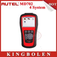 Wholesale Maxidiag Md - Original Autel MaxiDiag Elite MD 702 OBD II Auto Code Scanner Basic 4 Systems (Engine,Transmission,ABS and Airbag) MD702