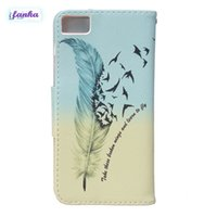 Wholesale Aquaris Flip Cover - For BQ Aquaris M4.5 Multicolor Printed Custom feather Flip PU Leather Stand Wallet Case Cover With TPU Soft In