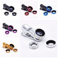 Wholesale Celular S5 - 3 in 1 Fish Eye Wide Angle Macro Fisheye Lens Lente Olho de Peixe Para For Celular iPhone Samsung galaxy note 3 4 S5 Len Lentes
