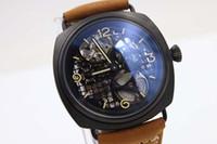 Wholesale Marina Black - new style luxury Brand automatic Black Seal big watch wrist mens wristwatches leather sport black marina watches