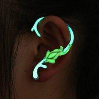 Wholesale Wholesale Ear Cuffs Frog - Girls Punk Style Glow In Dark Earrings Animal Fluorescent Ear Cuff Luminous Ear Wrap by Racheljp (Frog) One Piece 15ED196