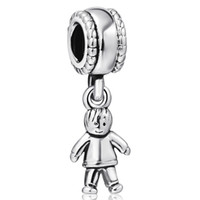 Wholesale European Boy Charms - Cute Little Boy Pendant European Charms Fit For 925 Sterling Silver Snake Chain Bracelet Fashion DIY Jewelry
