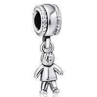 peu adapté achat en gros de-Cute Little Boy Pendant Pendentifs Européens Fit For 925 Sterling Silver Snake Chain Bracelet Fashion DIY Jewelry
