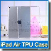 ipad contraportada de gel al por mayor-Transparente transparente iPad5 Fundas de gel de piel de goma de silicona TPU para iPad Air Cubierta trasera para iPad Air 2 Mini 1 2 3