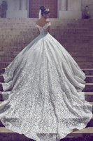 Wholesale Good Wedding Pictures - 2018 New Arrival Good Quality V Neckling Wedding Gowns Off The Shoulder Tiered Skirts Tulle Ruched Bridal Dresses