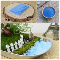 kaliteli bonsai toptan satış-Yüksek kaliteli Mavi Kuvars Kumu DIY Mikro Peyzaj Teraryum Saksı Bitkileri Çiçek Bonsai Toprak Yüzey Aksesuarları E428J