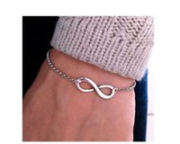 Wholesale One Direction Bracelets Cheap - Fashion One Direction Cheap Girl Jewelry Pulseira Digital Infinity Bracelets For Women Wholesale Bangle Wedding Bijoux Pulseras Link Chain