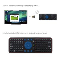 Wholesale Measy Pc Box - Wholesale-New 2.4G USB Wireless Keyboard Gyroscope Air Fly Mouse Remote for Mini PC Android TV Box for Measy RC7 Mini Keyboard Wholesale