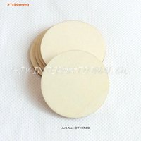 Wholesale quot Blank cutout circle round large wood disks crafts paint decor wooden disc DIY CT1074G