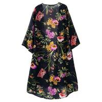 Wholesale Elegant Summer Cardigans - Women Lady Casual Summer Floral Sunblock Kimonos Fashion Chic Elegant Sexy Slim Fit Vogue Boho Top Blouse Coat Long Cardigan