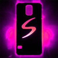 Wholesale Samung Galaxy Covers - LED Phone Cases LED Cell Phone Cover for Samung galaxy S5 LED Lighted Cases 7 colors LED Cases LED Cell Phone Accessories Flash Phone Cases