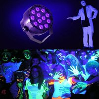 36W 12 LEDs DJ Black Light UV LED Bar Wall Washer Light para Stage KTV Party Pub Club Disco Show Concert Celebration, Black