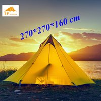 Wholesale Big Two Game - Wholesale- 2017 New arrival 2 or 3 persons 15D silnylon big pyramid 3 seasons 2 layer outdoor camping tent