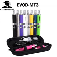 Wholesale Ego V6 Electronic Cigarette - EVOD MT3 Electronic Cigarette EVOD Kit 650mAh 900mAh 1100mAh colorful With Zipper Case VS EGO CE4 V6 Kit evod glass 0212018
