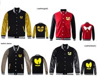Wholesale Men S Red Leather Jacket - Fall-leather sleeve and 100% cotton wu tang jackets raiders hoodie kings baseball jerseys wu tang jackets pyrex vision hoodie