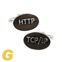 Wholesale cufflinks cloth - High Quality New Classic Silver Copper Mens Wedding Cufflinks Novelty Rare Fancy HTTP TCP IP & Clean Cloth 171039