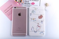 Wholesale painted paradise - Cute Korean style Animal Paradise for iphone 6   6s painted phone shell new 3D relief two-in-one tpu cute explosion protection case