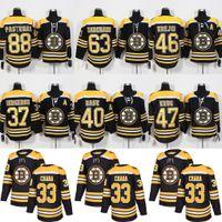 Wholesale Bergeron Jersey - 2018 Boston Bruins 88 David Pastrnak 46 David Krejci 37 Patrice Bergeron 63 Brad Marchand 33 Zdeno Chara 40 Rask Torey Krug Hockey Jerseys