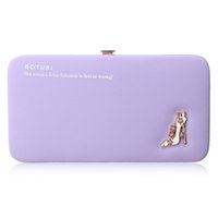 Wholesale Ladies Long Heel Shoes Fashion - Fashion Women Wallets Leather Long Coin Purses Lady Day Clutches High-heeled Shoes Pattern Girls Hasp Pouch Credit Card Holders