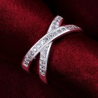 Wholesale Global Europe - The first round of the global diamond ring round silver zircon wholesale best-selling Europe and the United States