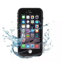 vaka ömrü toptan satış-Yüksekliği kaliteli Su Geçirmez telefon kılıfı Için iPhone 6 7 6 s 7 s Artı hayat Su geçirmez kılıf Darbeye Kir Geçirmez telefon Kılıfları için ben telefon 6G kapak
