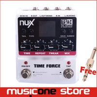 Wholesale Digital Time Delay - NUX TIME FORCE Multi Digital Delay Stomp Boxes Guitar Effect Pedals Free shipping MU0155