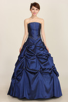 Wholesale Taffeta Halter Wedding Dress Pearl - 2015 foreign trade dress blue pearl wedding bride wedding dress Tutu banquet wedding dresses wholesale