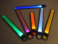 Wholesale Wrist Straps Bracelet Light - Nylon LED Sports Slap Wrist Strap Bands Wristband Light Flash Bracelet Glowing Armband Flare Strap Party Concert wen4758
