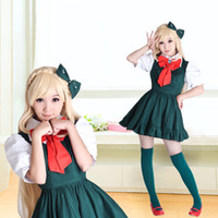Wholesale Cheap New Years Dresses - Cheap Super Danganronpa 2 Anime Cosplay Costumes Danganronpa 2 Sonia Nevermind Cosplay Dresses Japanese Cosplay Dress For Lady