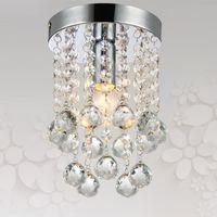 Wholesale Cristal Ceiling - Wholesale-Mini Crystal Ceiling Light Aisle Porch Corridor Light Lamp Cristal Lustres Dia 6 Inch Stair Flush Mount Crystal Lighting