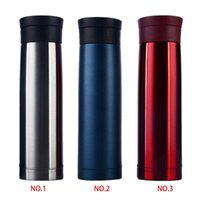 Wholesale Stainless Steel Ceramic Coffee Mugs - new arrive 3 color classic design Stainless Steel Tea Water Coffee Flask Vacuum Thermos Cup Travel Mug
