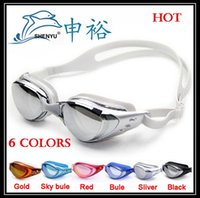 Wholesale Swims Coat - Top quality new anti-fog anti-ultraviolet swimming goggles men and women unisex coating swimming glasses adult goggles,free ship