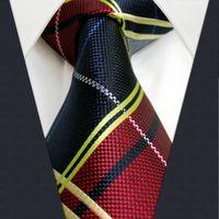 Wholesale Mens Necktie Pattern - U21 Multicolor Checked Pattern Mens Ties Silk Handmade Wedding Fashion Classic Brand New Dress Men's Accessories Necktie