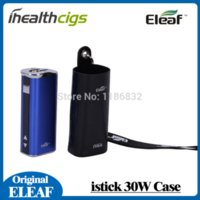 Wholesale Ego Case Lanyard - Original Ismoka eleaf istick 30W leather case with ego lanyard for istick 30w kit istick cover istick accessories 10pcs