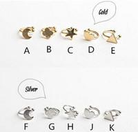 Wholesale Triangle Clip Earrings - Fashion Hot Gold silver copper metal moon clover star heart triangle no pierced clip earrings ear cuffs for women boucle bijoux