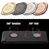 Wholesale tablet stander - New Metal Ring Cell Phone Holder Stand 360 Degree Rotation Stander Smartphone Mobile Phone Finger Stand Holder for iphone samsung tablet pc